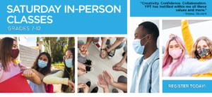Saturday In-Person Classes banner