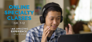 Specialty Online Classes banner